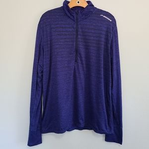 Brooks long sleeve shirt blue womens sz L